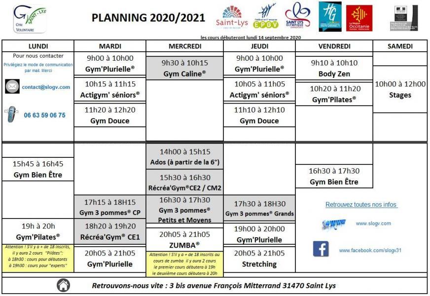 Planning 2020 2021